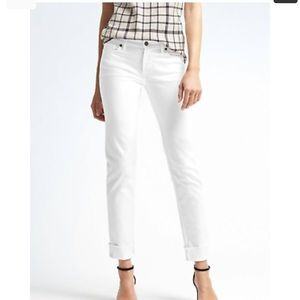 NWT Banana Republic Stay White girlfriend jeans
